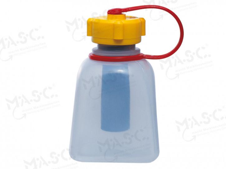 Lötwasserfläschchen transparent