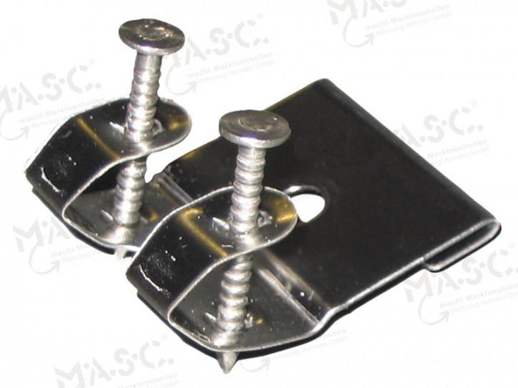 MASC-Edelstahl-Liegehaft (mit 2 Nägeln)